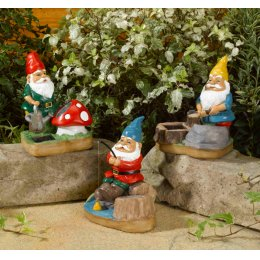 Solar Powered Gnomes - Pack of 3