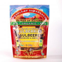 Pearls Of Samarkand Organic Black & White Mulberries - 100g