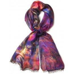 Dip-dyed Silk Scarf test