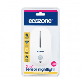 Ecozone 2 in 1 Sensor LED Night Light