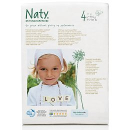 Naty Eco Disposable Nappies - Maxi - Size 4 - Pack of 27