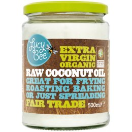Lucy Bee Extra Virgin Fair Trade Organic Raw Coconut Oil - 500ml