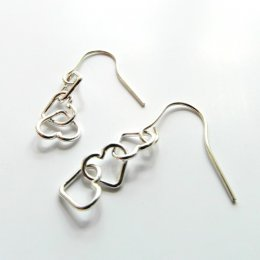 La Jewellery Recycled Petit Beaten Heart Silver Earrings