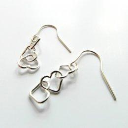 La Jewellery Recycled Petit Beaten Heart Silver Earrings test