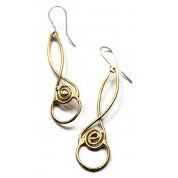 La Jewellery Recycled Brass Laugharne Earrings test