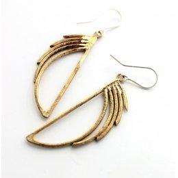 La Jewellery Recycled Brass Waterfall Earrings test