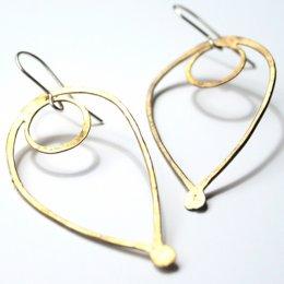 La Jewellery Recycled Brass Bloom Earrings test