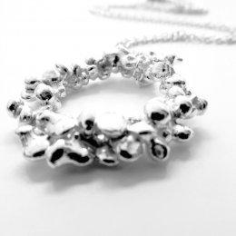 La Jewellery Fair Trade Fair Mined Silver Rockpool Necklace test