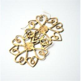 La Jewellery brass heartflake earrings test
