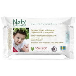 Naty Unscented Sensitive Wipes - Pack Of 56 test