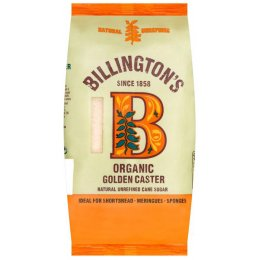 Billingtons Organic Natural Caster Sugar- 500g