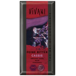 Vivani Organic Dark Chocolate & Cassis Filling - 100g