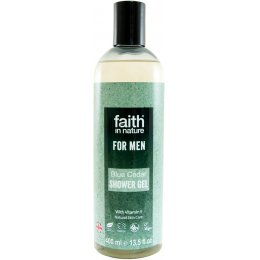 Faith In Nature Mens Blue Cedar Shower Gel - 400ml