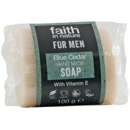 Faith In Nature Mens Blue Cedar Bar Soap - 100g test