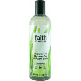 Faith In Nature Fragrance Free Shower Gel/Foam Bath - 400ml
