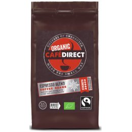 Cafedirect Fair Trade Organics Espresso Blend - Whole Beans - 227g