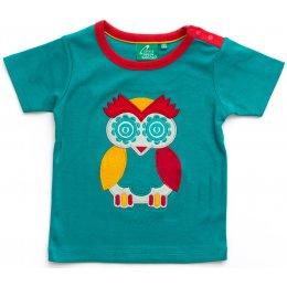Owl Applique Tee - Blue test