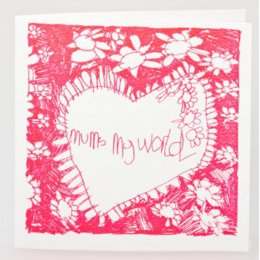 Arthouse Meath Charity Mums My World Mothers Day Card