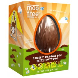 Moo Free Organic & Dairy Free Orange Chocolate Easter Egg with Buttons - 110g
