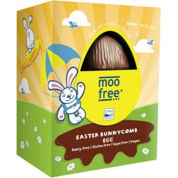 Moo Free Organic & Dairy Free Bunnycomb Chocolate Easter Egg - 110g