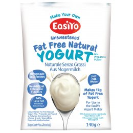 EasiYo Fat Free Natural Yoghurt - 140g