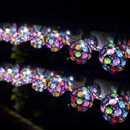Solar Powered Multi-Glow Gem String Lights - 10 test