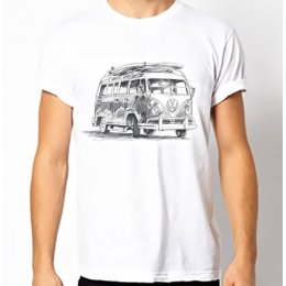 Fair-T Mens Fairtrade VW Campervan T-Shirt