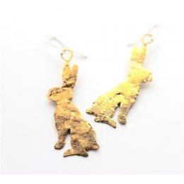 LA Jewellery Brass Lobee Hare Earrings test
