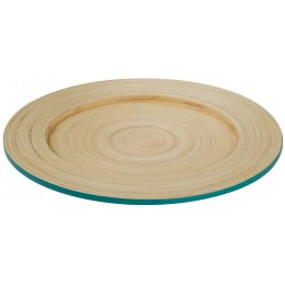 Kyoto Bamboo Plate - Turquoise test