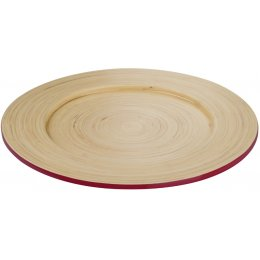 Kyoto Bamboo Plate - Raspberry test