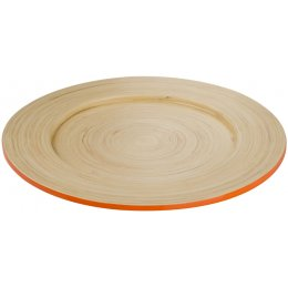 Kyoto Bamboo Plate - Orange test