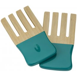Kyoto Bamboo Salad Forks - Turquoise test