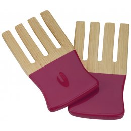 Kyoto Bamboo Salad Forks - Raspberry test