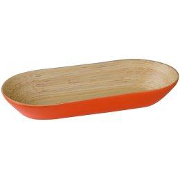 Kyoto Bamboo Oblong Bowl - Orange test