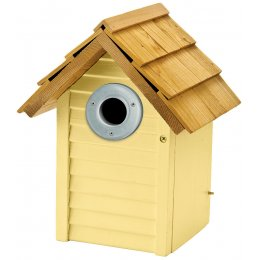 Beach Hut Nest Box - Yellow