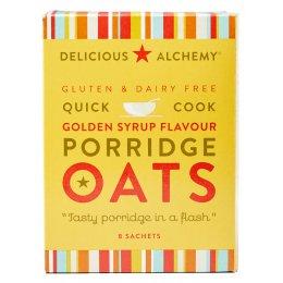Delicious Alchemy Gluten Free Golden Syrup Porridge Sachets - 216g test