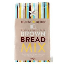Delicious Alchemy Gluten Free Brown Bread Mix - 340g