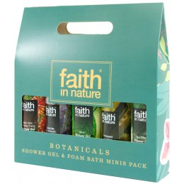 Faith in Nature Shower Gel & Bath Foam Minis Gift Pack - Botanicals