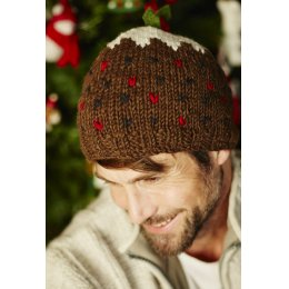 Knitted Christmas Pudding Hat