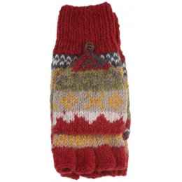 Finisterre Knitted Glove/Mittens - Rust test