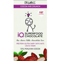 IQ Superfood Cocoa Nib Crunch Raw Chocolate - 35g test
