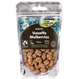 The Raw Chocolate Co Vanoffe Covered Mulberries - 125g