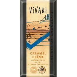Vivani Organic Milk Chocolate & Caramel Cream - 100g