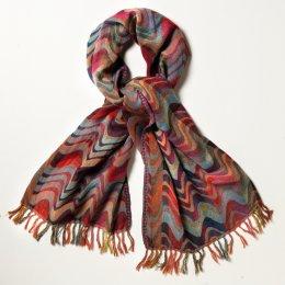 Wave Wool Shawl - Multi-coloured test