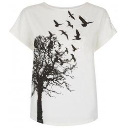 People Tree Printed T-shirt - Eco White test