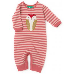 Baby Barn Owl Playsuit - Pink Stripe test