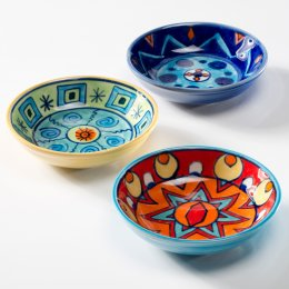 Handpainted Ceramic Dishes - Set of 3 test