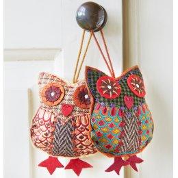 Tweed Hanging Owl Decoration test