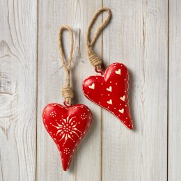 Handpainted Hanging Wooden Heart Decoration test
