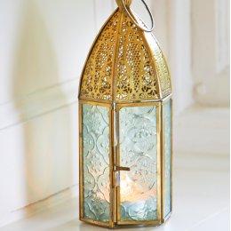 Antique Brass Moroccan Style Lantern test